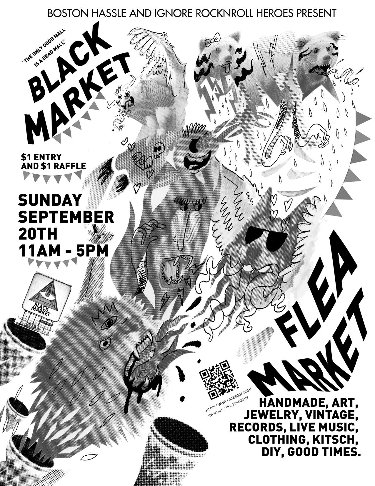 3f8f779c2a651 Boston Hassle and Ignore Rock'n'Roll Heroes Present: September Black  Market! (art/record/flea/artisan market)   BOSTON HASSLE