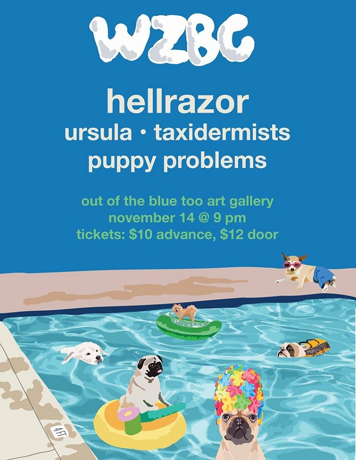 WZBC Fall Concert featuring Hellrazor (CT), URSULA, Taxidermists, Puppy  Problems | BOSTON HASSLE