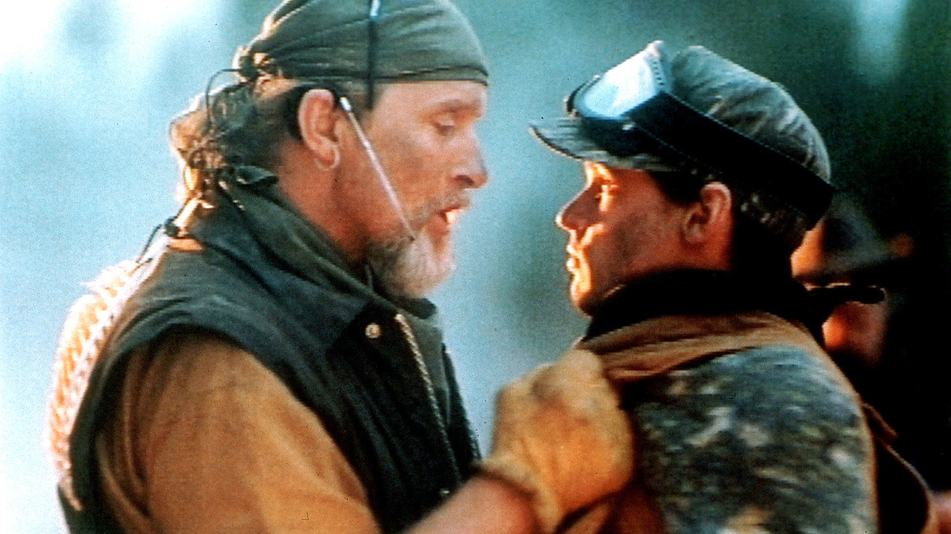Ruger Hauer in Surviving the Game which is a movie starring Rutger Hauer, who's in Surviving the Game. Also other people, like Ice-T, who's not in this picture but who is in Surviving the Game with Rutger Hauer, who's still not as terrifying as Craigula.