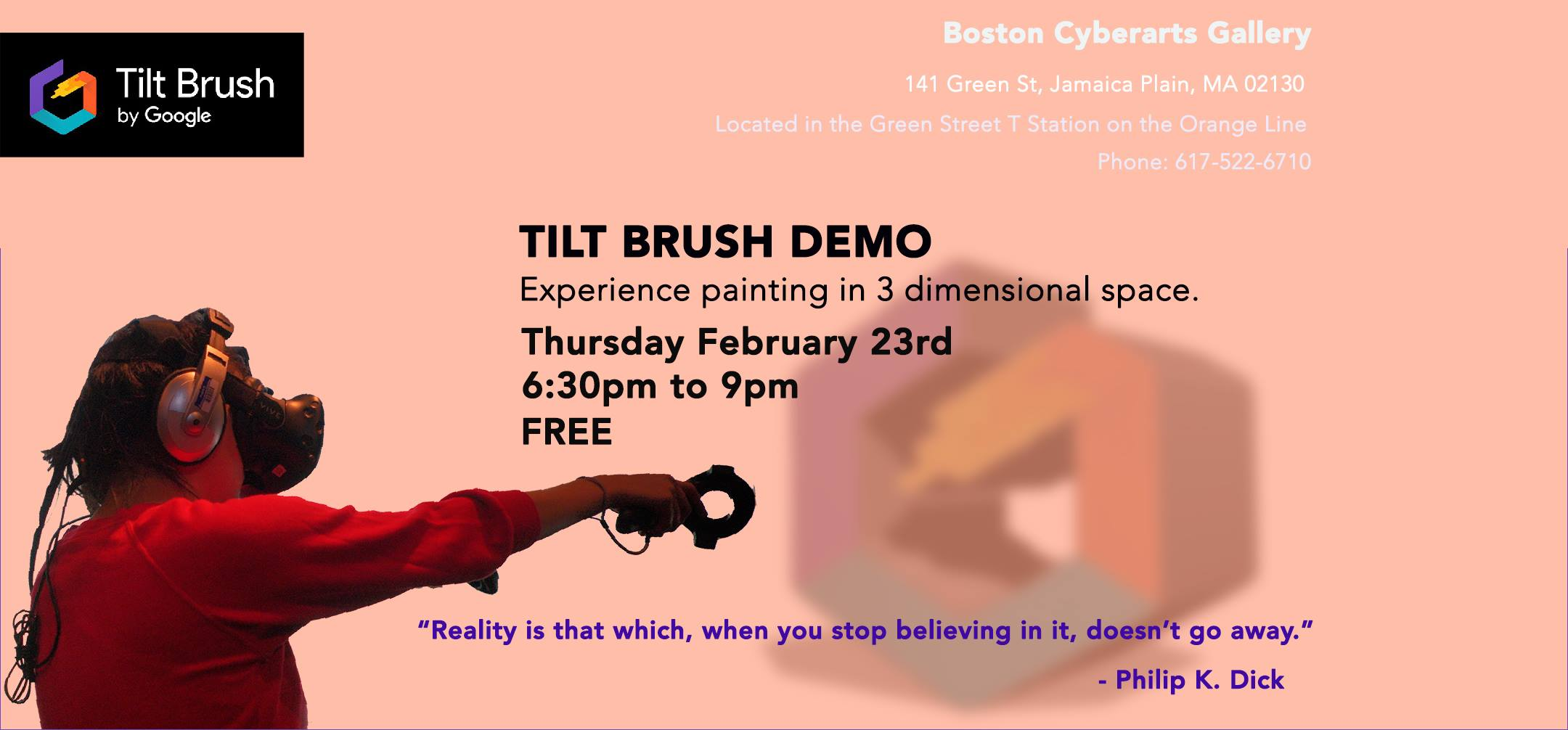 Tilt Brush Demo: Experience Painting in 3D Space   BOSTON