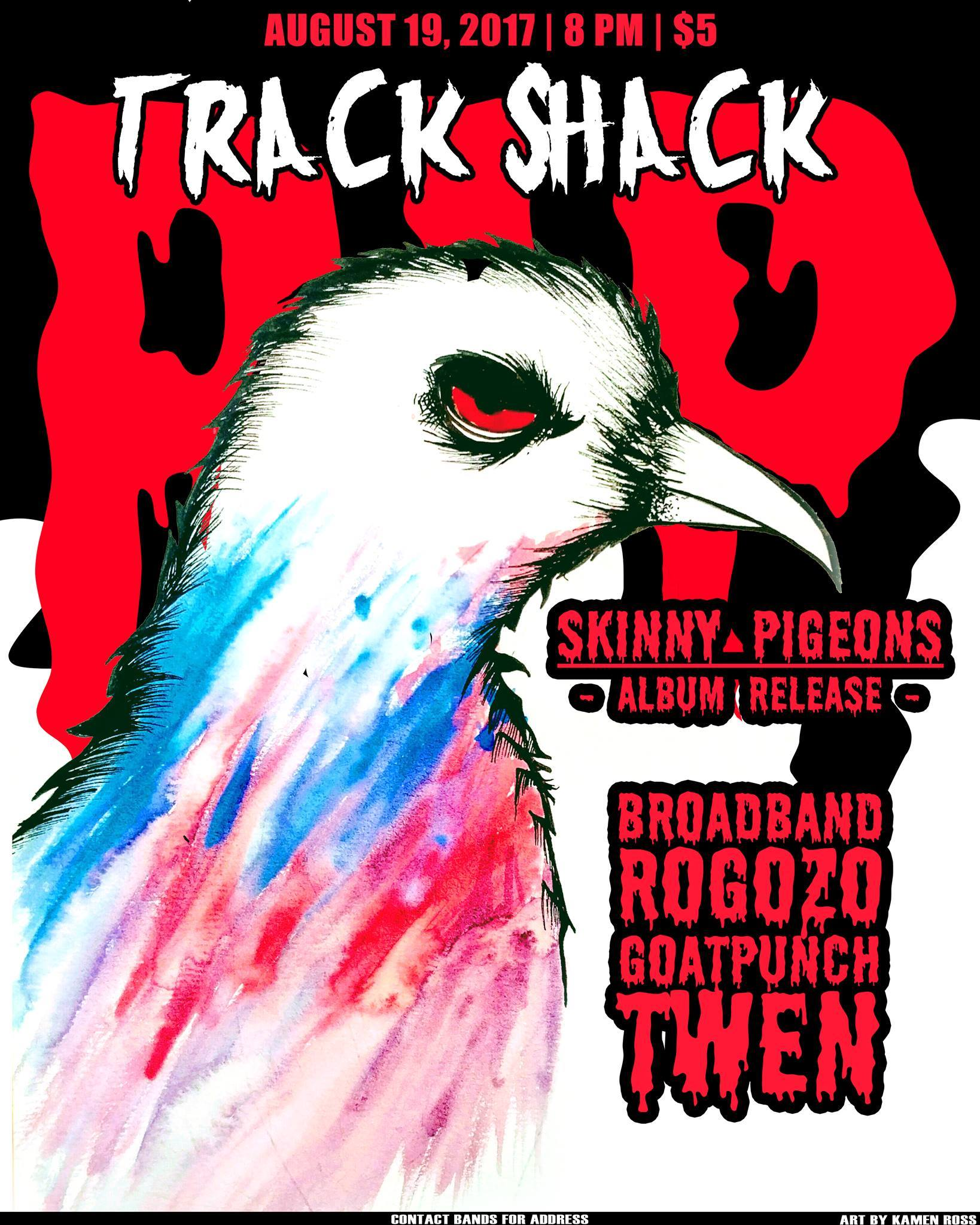 Album Porno skinny pigeons (album release) with twen, goatpunch, porno portal to  florida, broadband - final track shack show   boston hassle