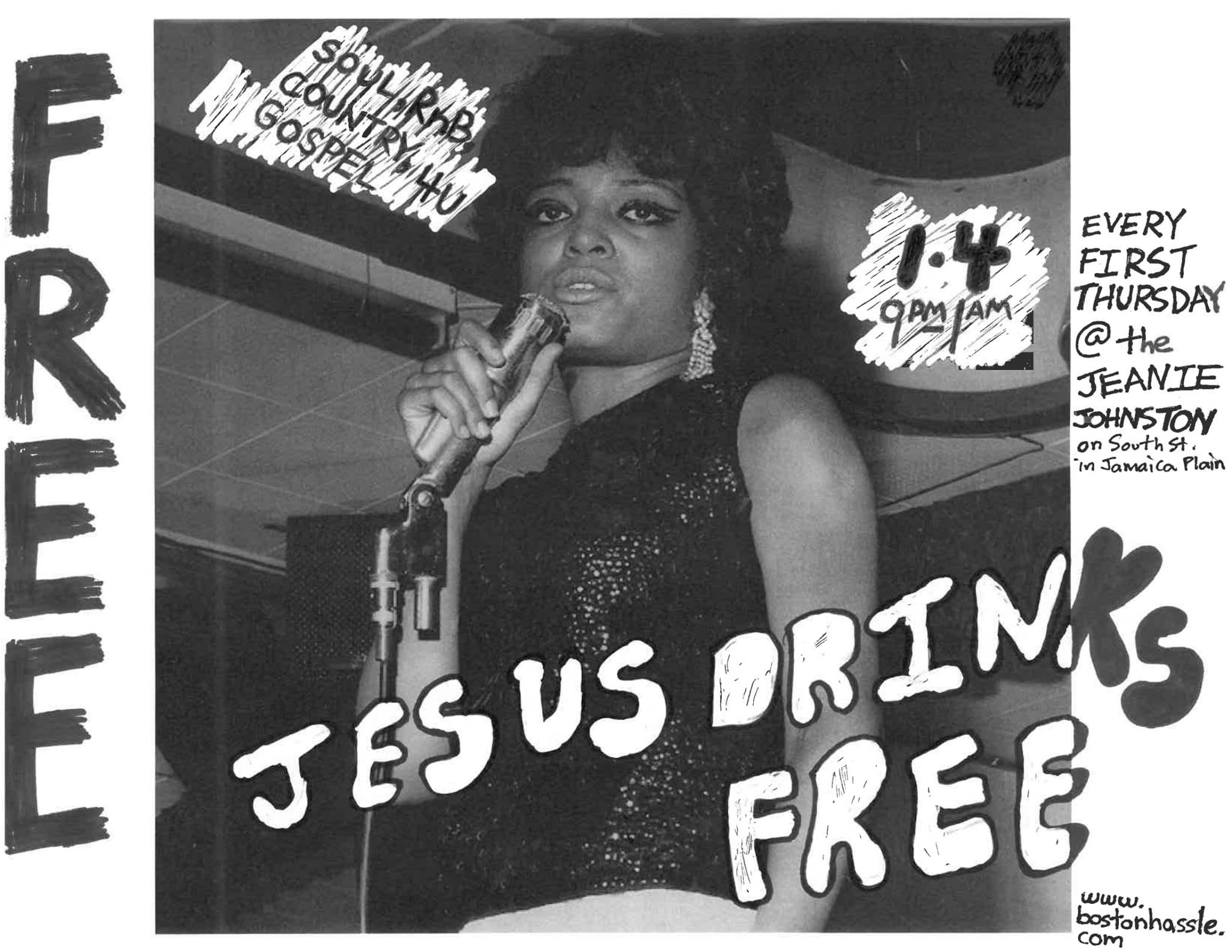 JESUS DRINKS FREE! 1950s-70s country, gospel, soul and