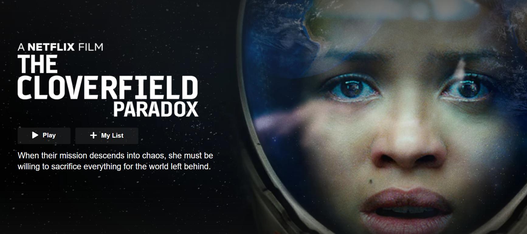 REVIEW: The Cloverfield Paradox (2018) dir  Julius Onah