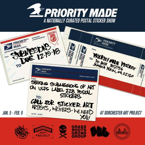 CALL FOR ART: Priority Made - a nationally curated postal