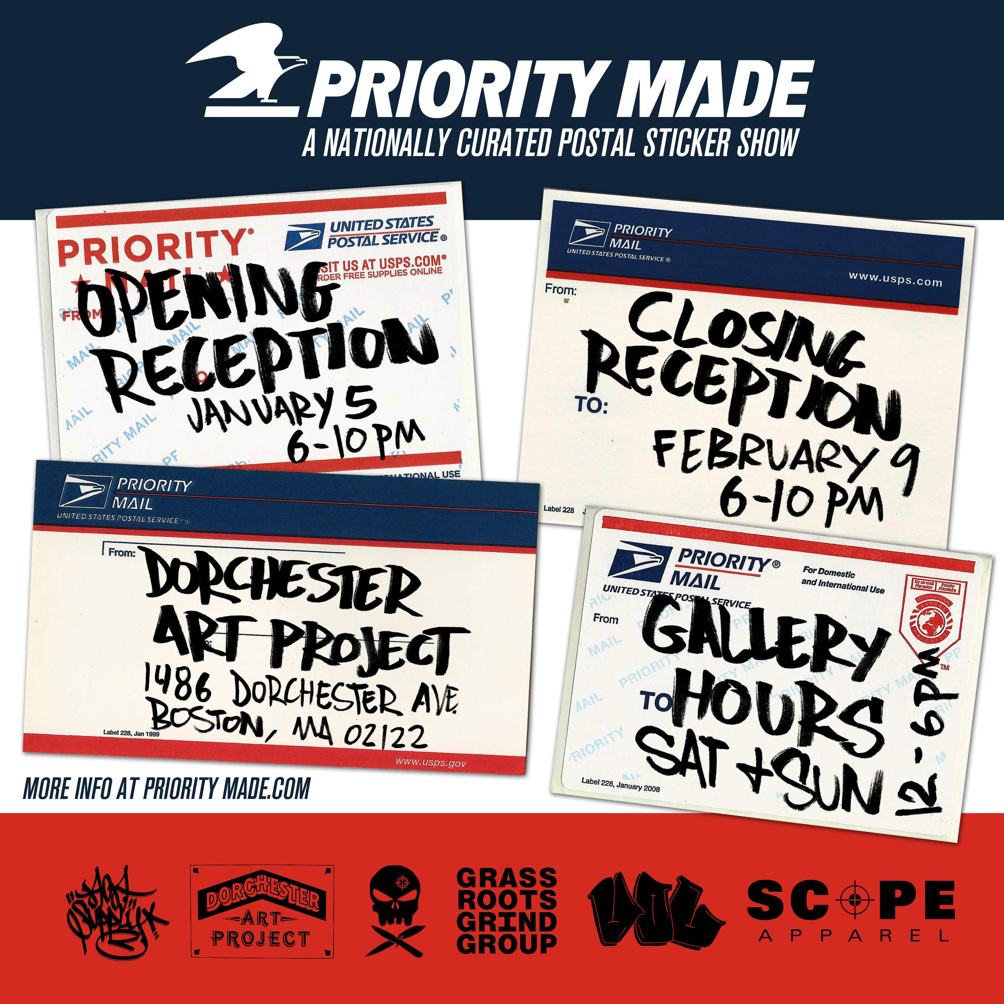 Priority Made Sticker Show | BOSTON HASSLE