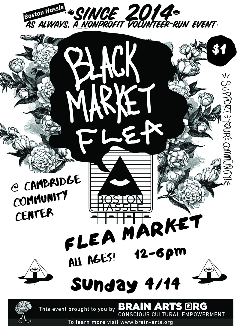 Boston Hle Presents A Bi Monthly One Day Flea Market Featuring Handmade Artwork Prints Patches Records Tees Pins Ceramics Jewelry Zines