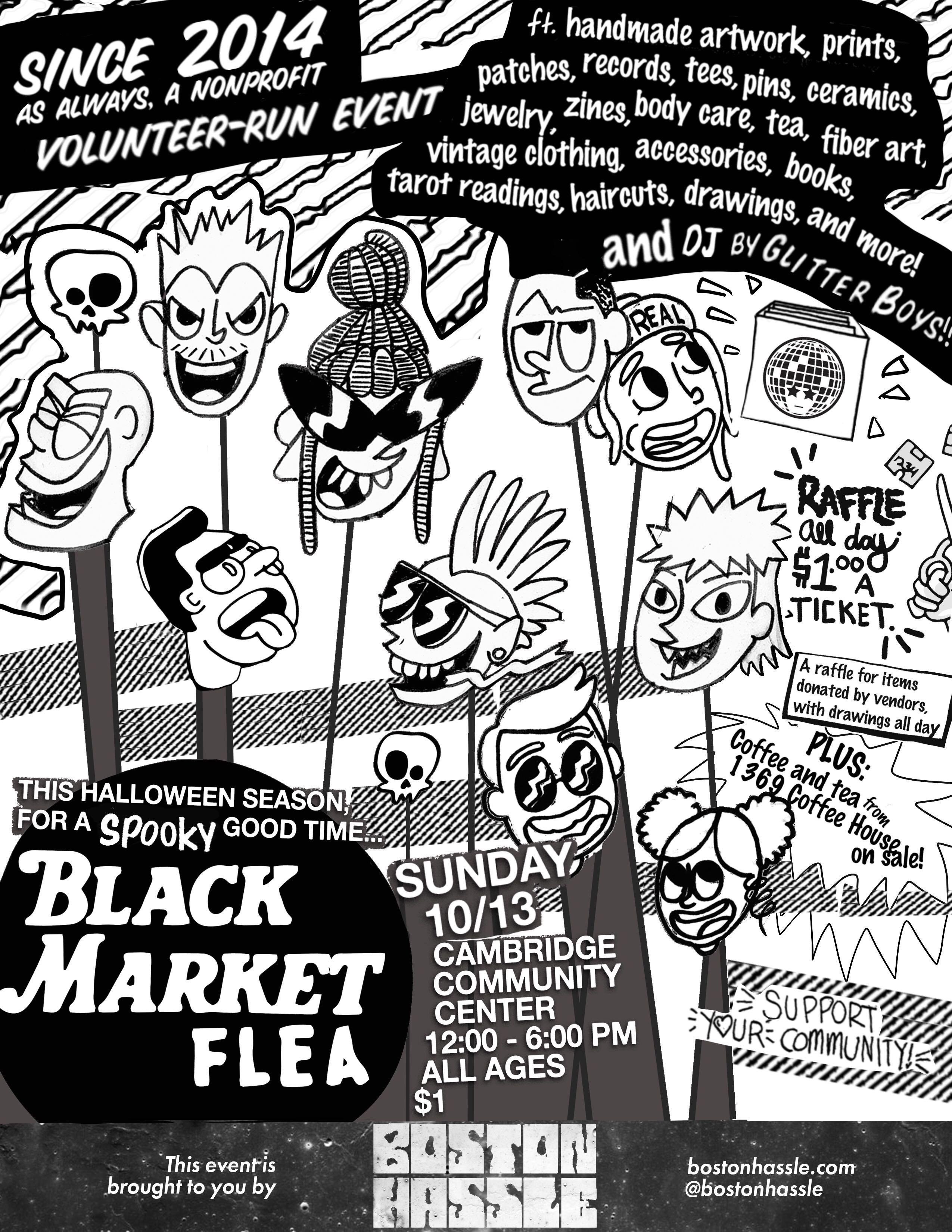 Boston Hassle Presents Black Market Flea Boston Hassle