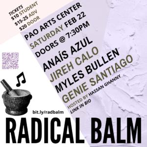 RADICAL BALM flyer