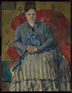 Paul Cezanne Madame Cezanne in a Red Armchair